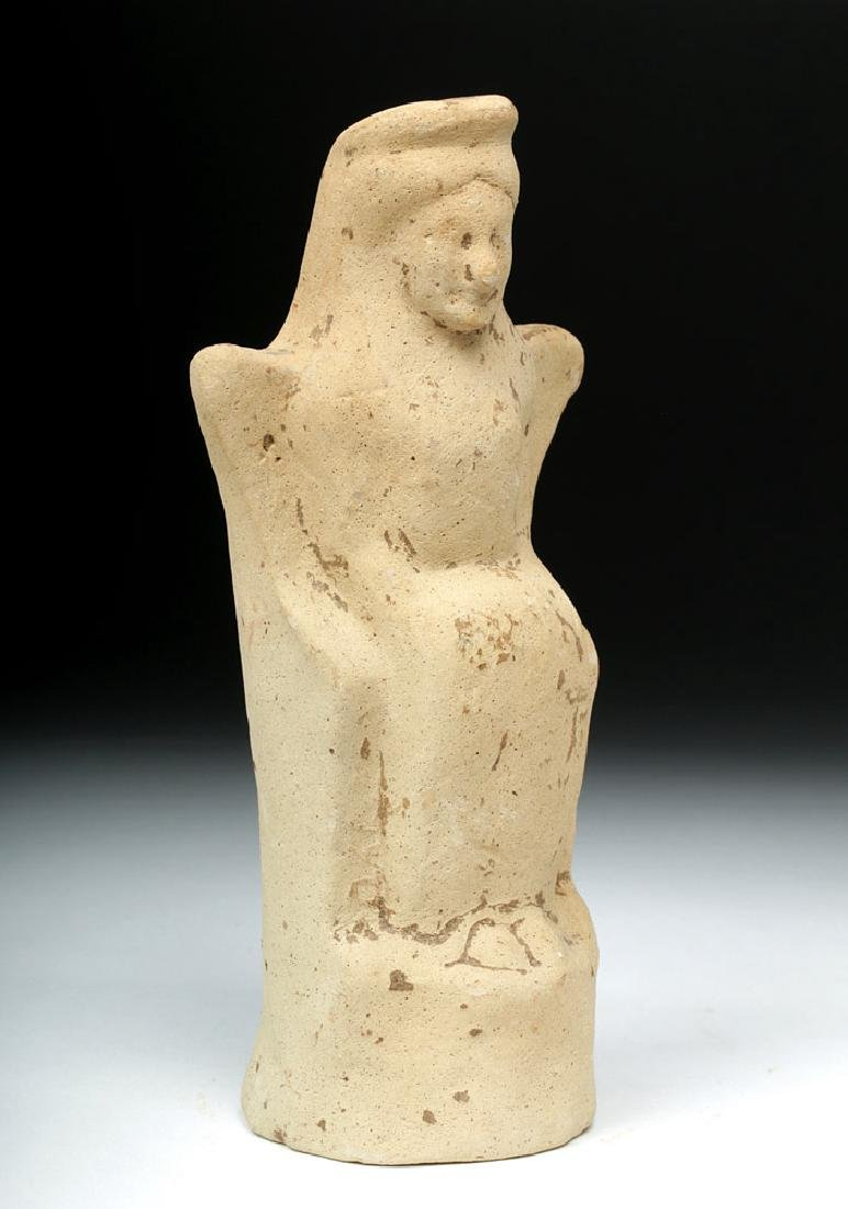 Western Greek Earthenware Seated Woman