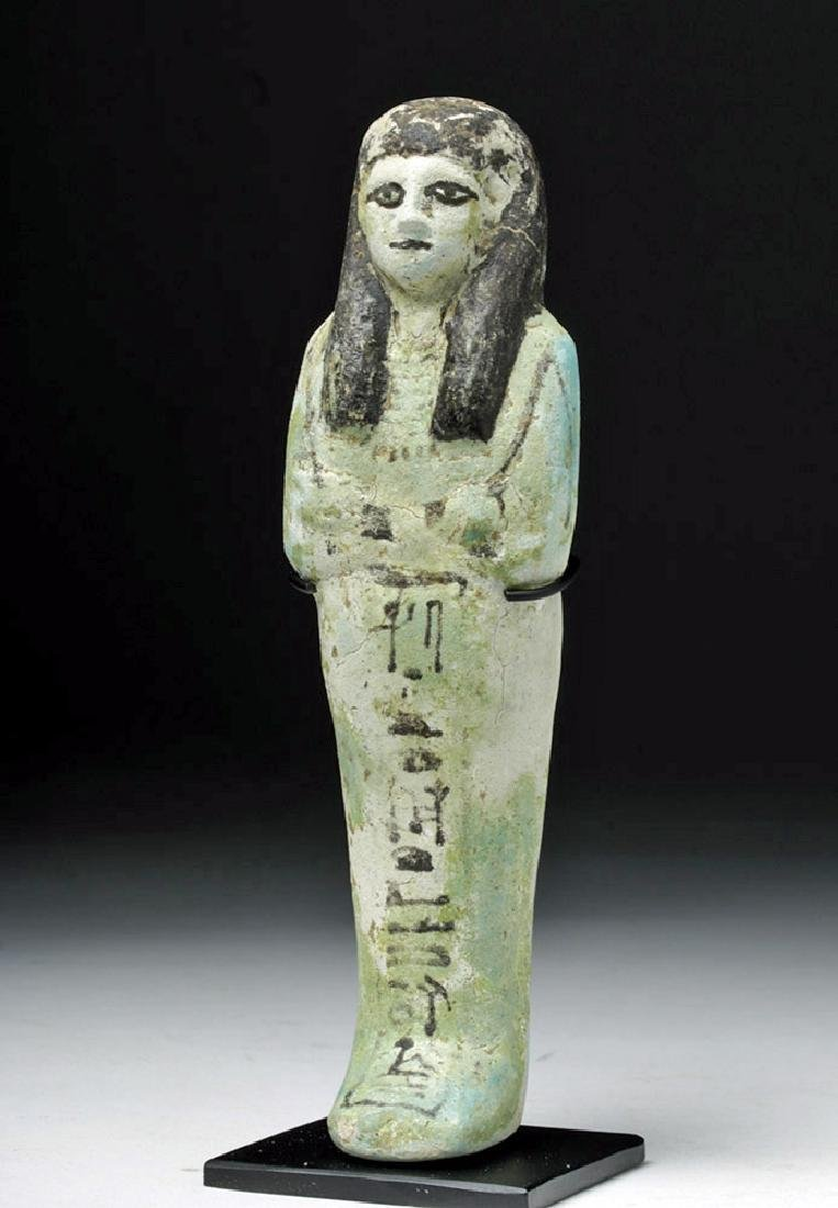 Egyptian Third Intermediate Faience Ushabti