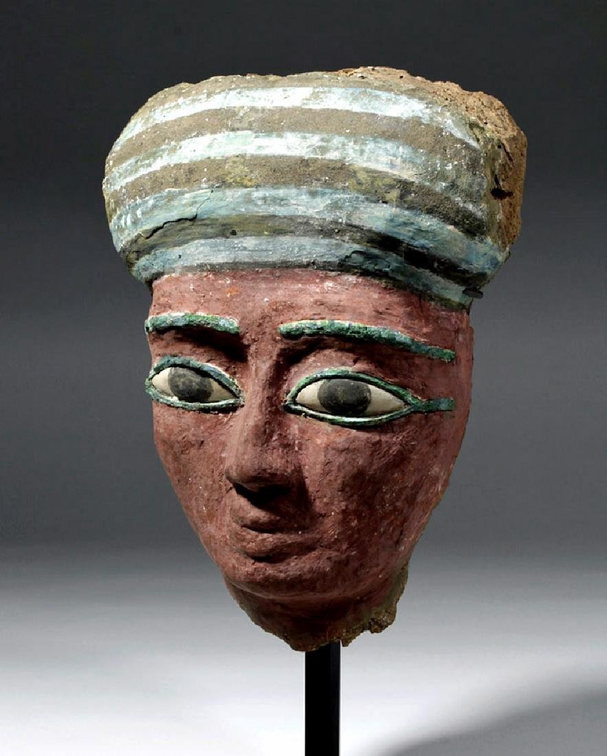 Superb Egyptian Sarcophagus Mask, Radio-Carbon'd