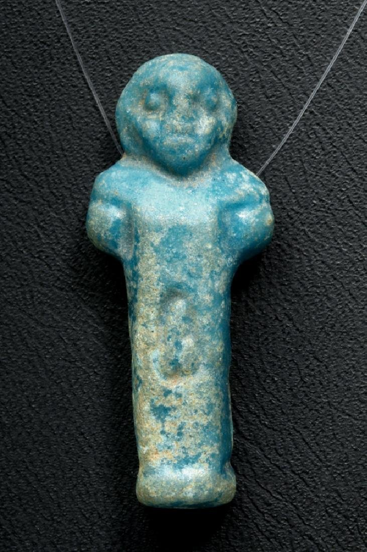 Egyptian Faience Amulet - Nude Male Erect Phallus