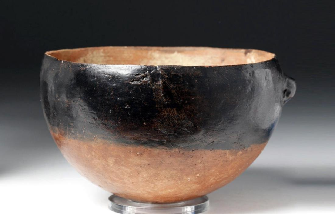Ancient Cypriot Blacktop Pottery Bowl