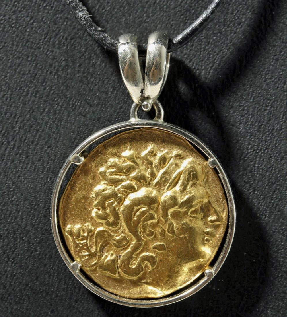 Mithridates VI 89-72 BCE Gold Stater in Bezel