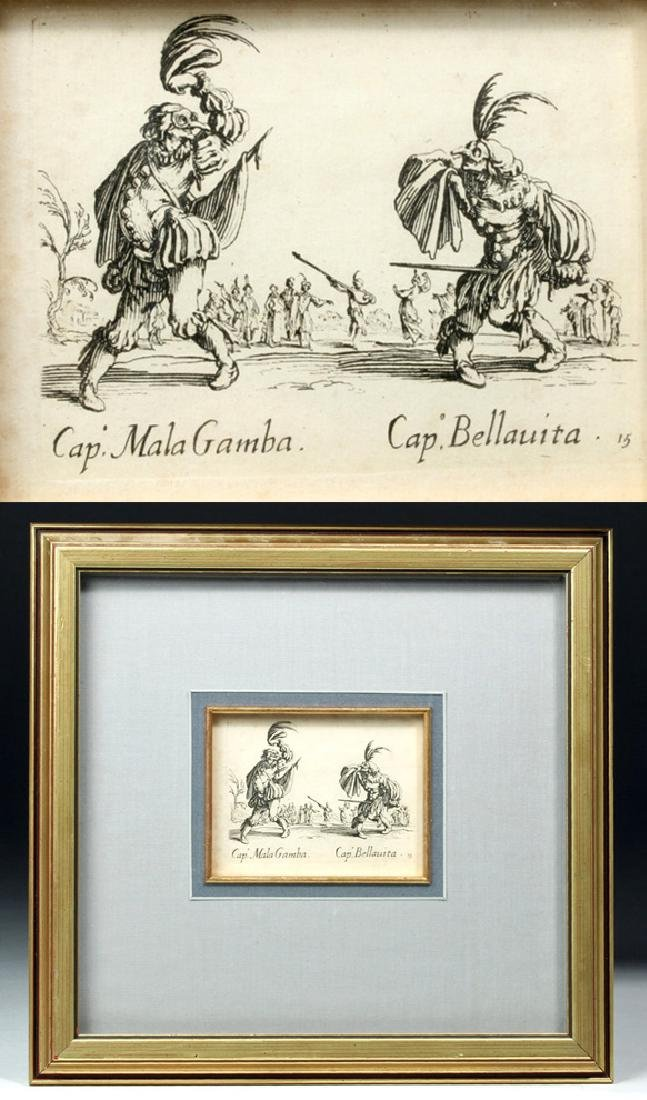 Original French 17th C. Jacques Callot Etching