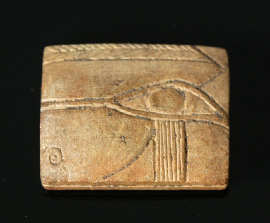 Egyptian Late Dynastic Ceramic Bead -Wedjat