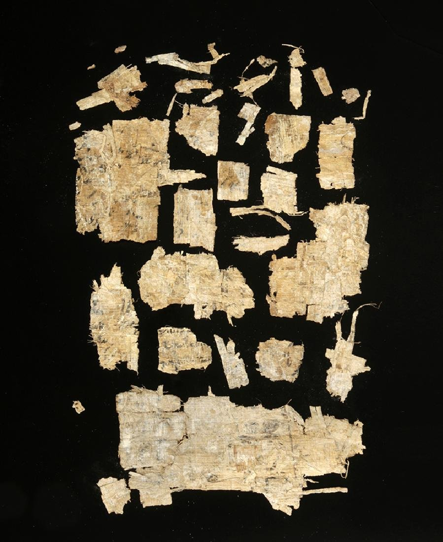 Egyptian Papyrus Fragments w/ Hieratic Script