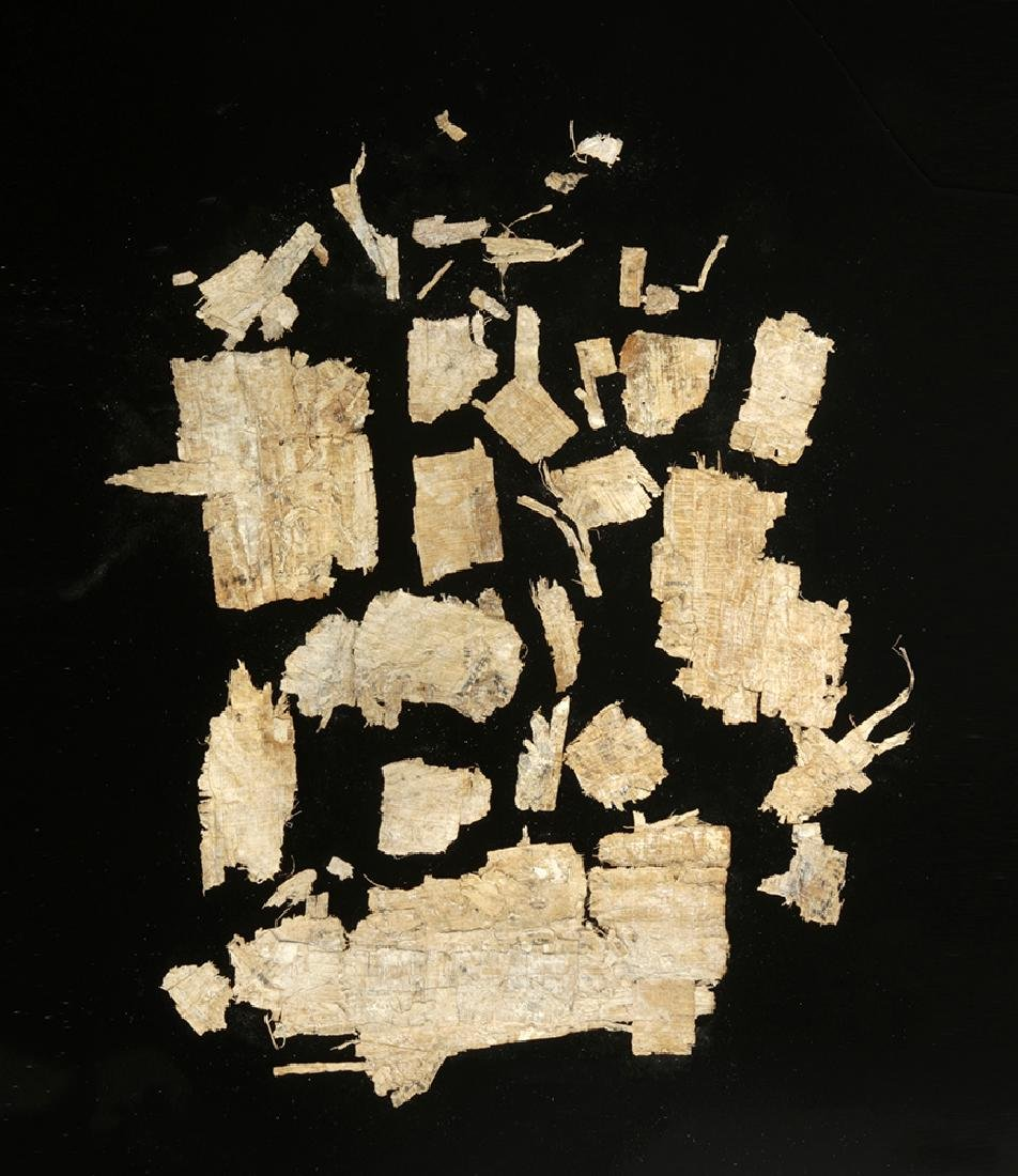 Egyptian Papyrus Fragments w/ Hieratic Script - 2