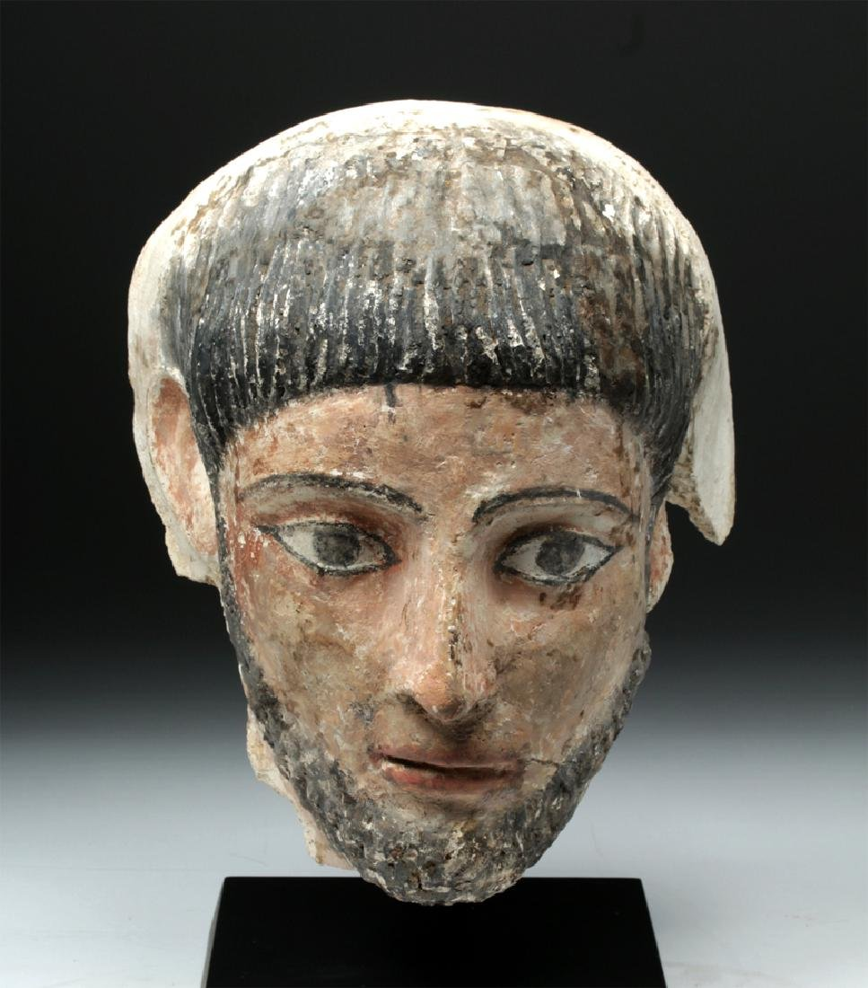 Romano-Egyptian Plaster Mummy Mask of a Man