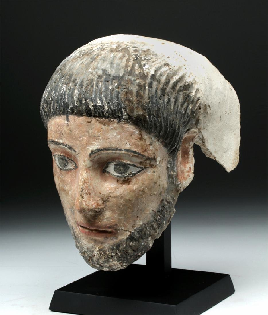 Romano-Egyptian Plaster Mummy Mask of a Man - 2