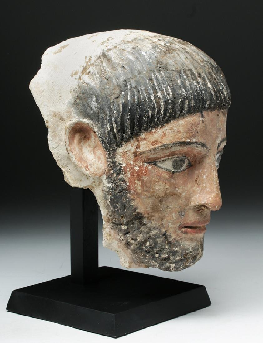 Romano-Egyptian Plaster Mummy Mask of a Man - 5
