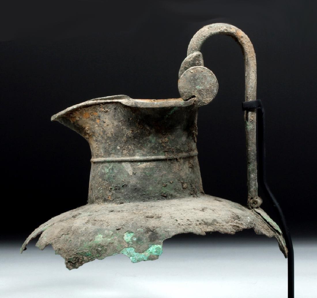 Greek Attic Bronze Oinochoe Section - 2