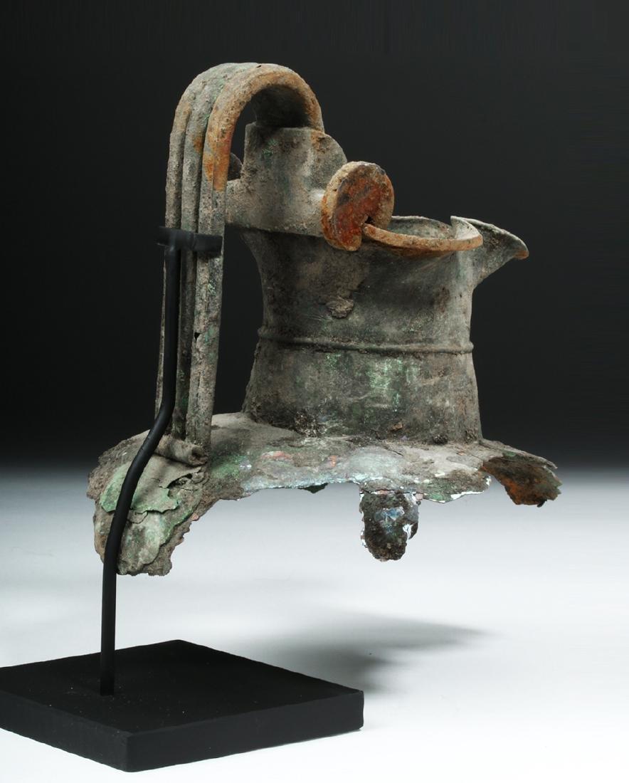 Greek Attic Bronze Oinochoe Section - 4