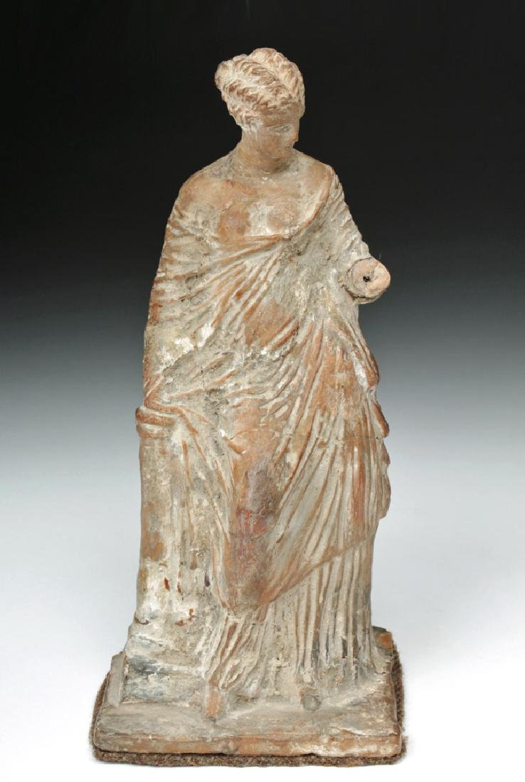 Superb Greek Tanagra Figure of a Lady