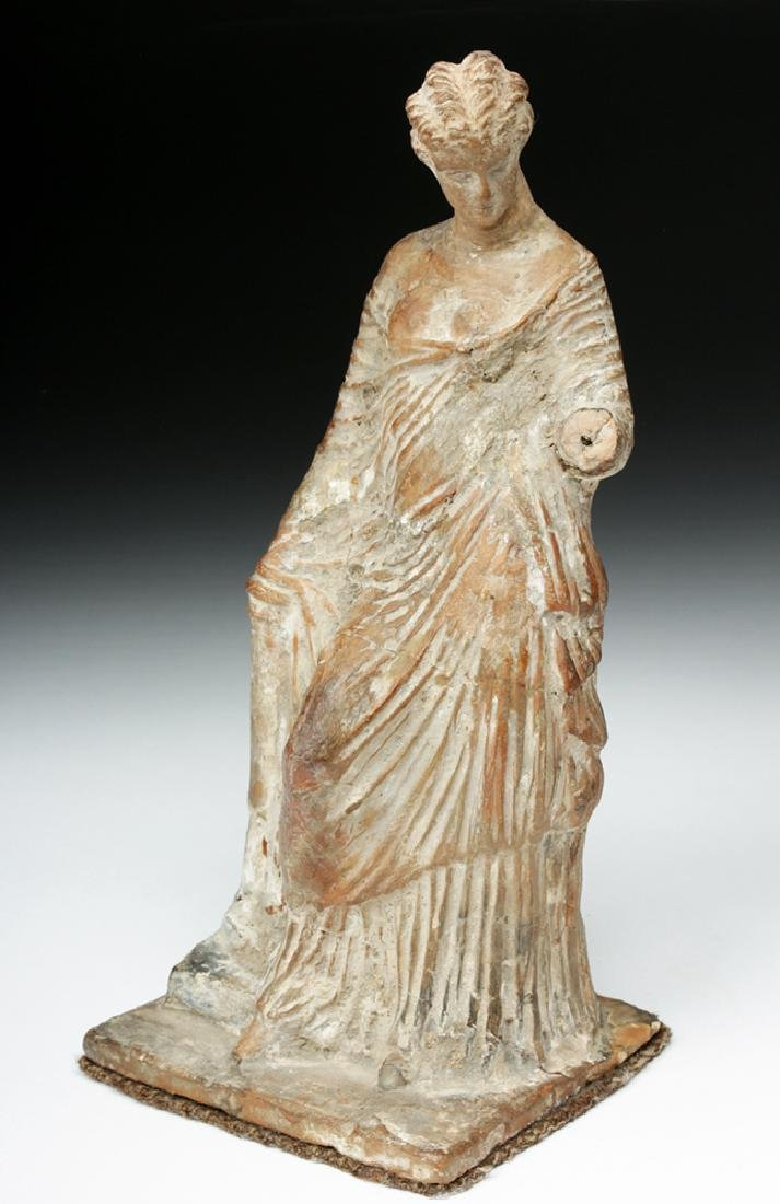 Superb Greek Tanagra Figure of a Lady - 2
