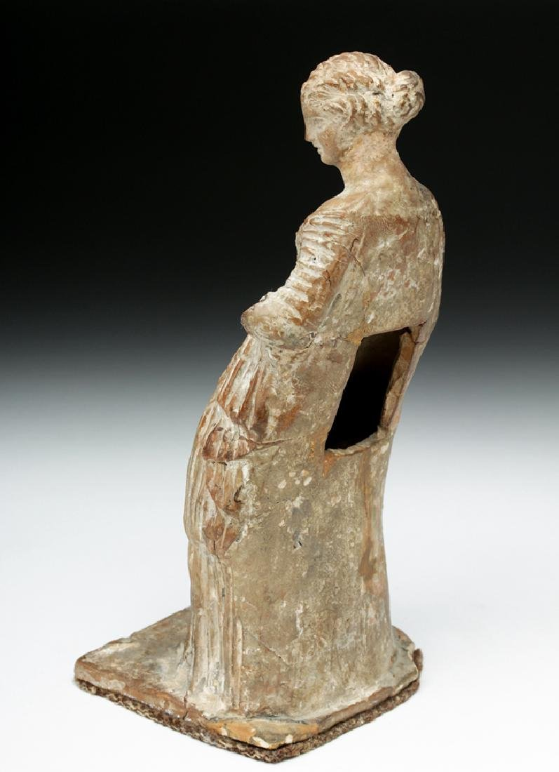 Superb Greek Tanagra Figure of a Lady - 3