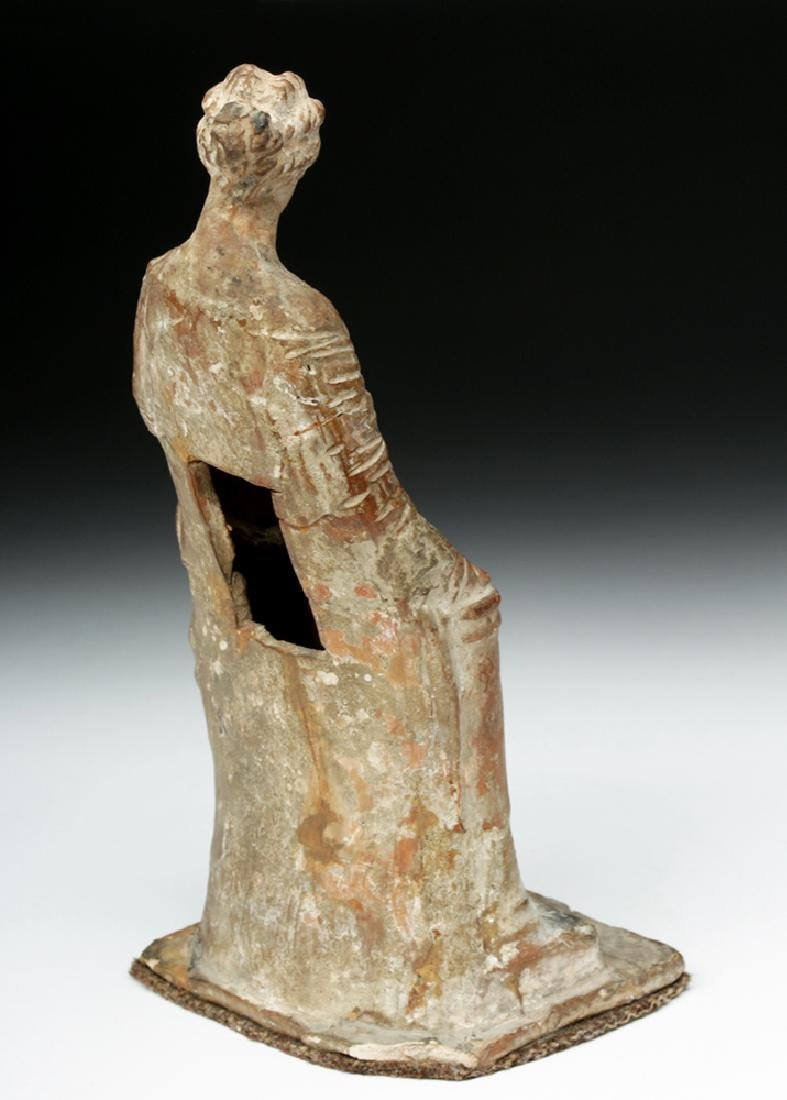 Superb Greek Tanagra Figure of a Lady - 4
