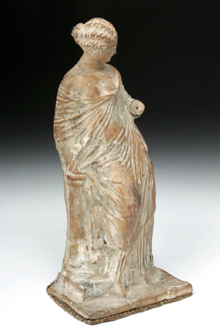 Superb Greek Tanagra Figure of a Lady - 5