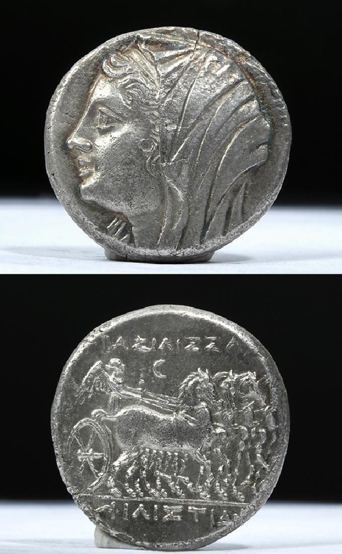 Greek Sicilian Heiron II AR Tetradrachm 269 BCE