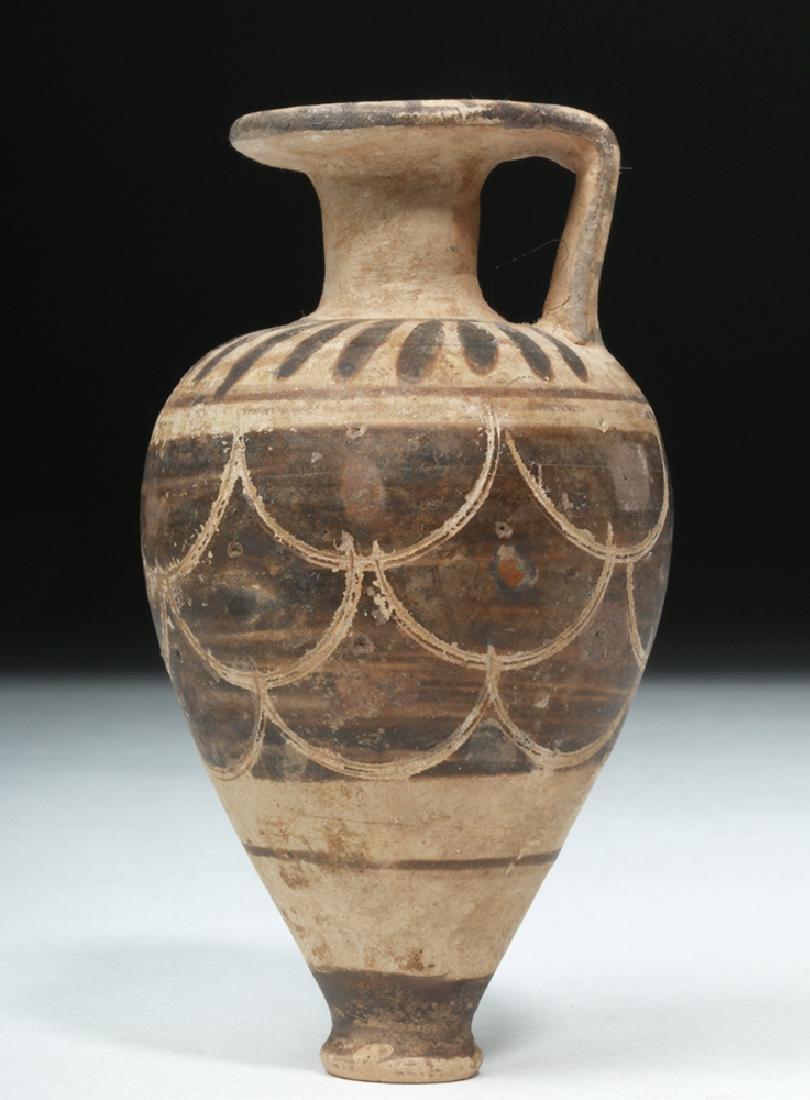 Near-Miniature Etrusco-Corinthian Pottery Aryballos - 2
