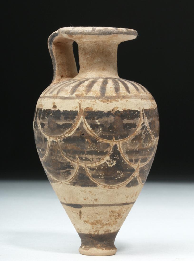 Near-Miniature Etrusco-Corinthian Pottery Aryballos - 3