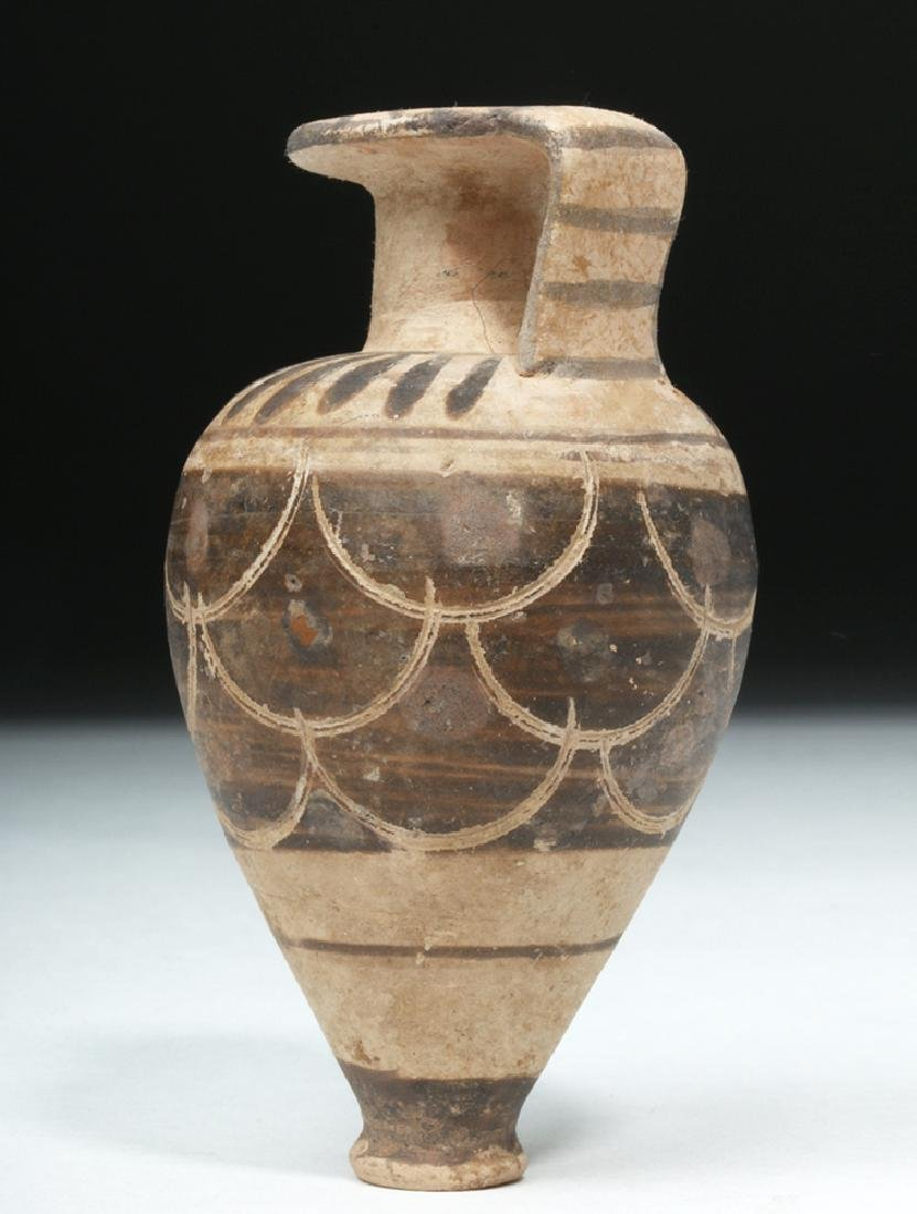 Near-Miniature Etrusco-Corinthian Pottery Aryballos - 4