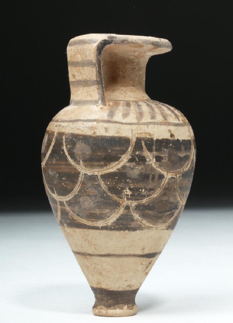 Near-Miniature Etrusco-Corinthian Pottery Aryballos - 5