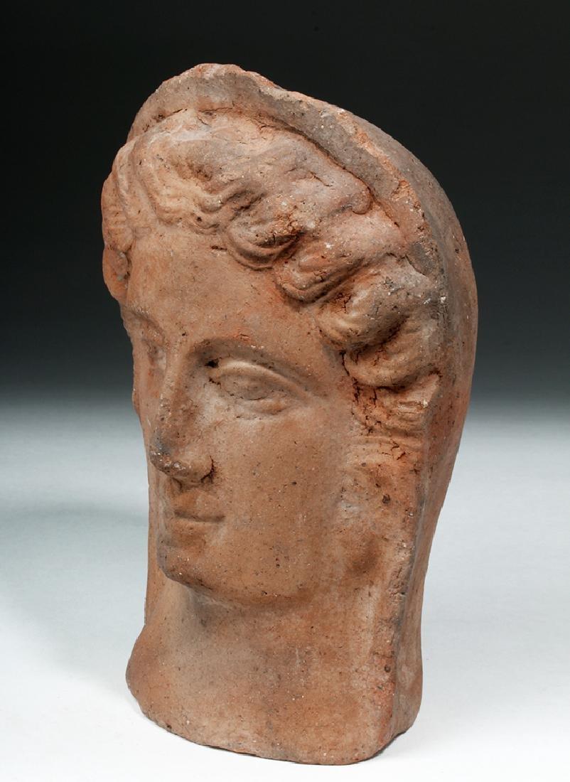 Etruscan Terracotta Votive Head of a Female - 2