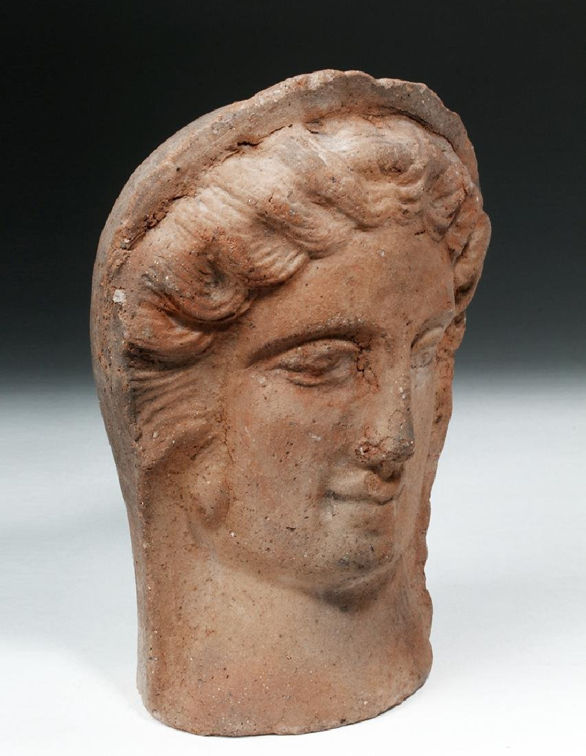 Etruscan Terracotta Votive Head of a Female - 5