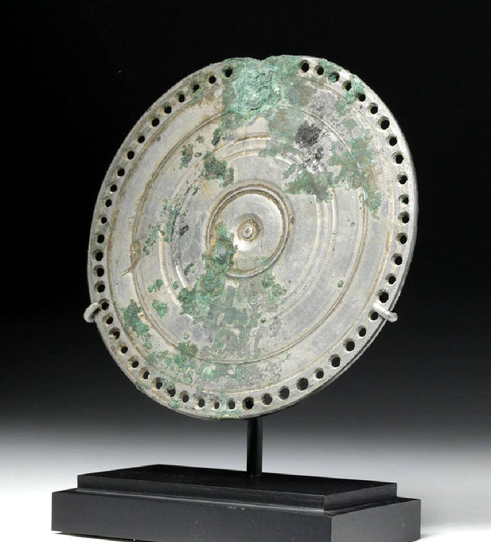 Stunning Roman Silvered Bronze Mirror
