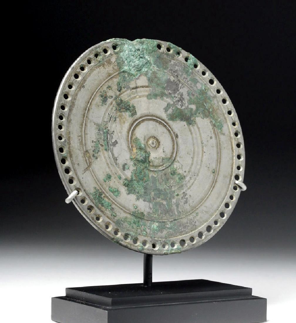 Stunning Roman Silvered Bronze Mirror - 2
