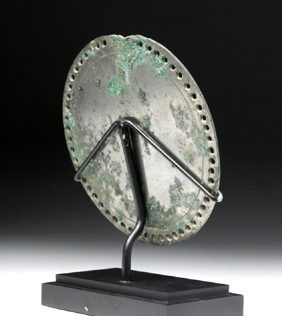 Stunning Roman Silvered Bronze Mirror - 3