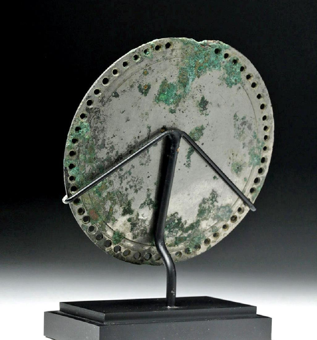 Stunning Roman Silvered Bronze Mirror - 4
