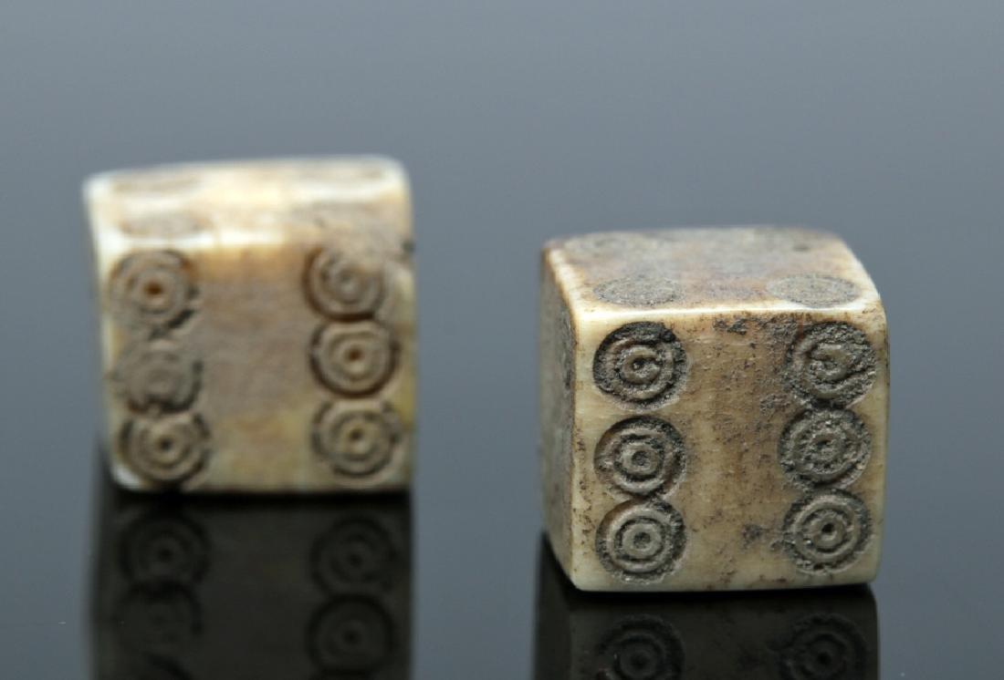 Pair of Roman Bone Gaming Dice
