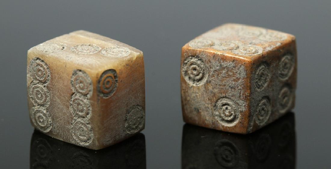 Pair of Roman Bone Dice - 2
