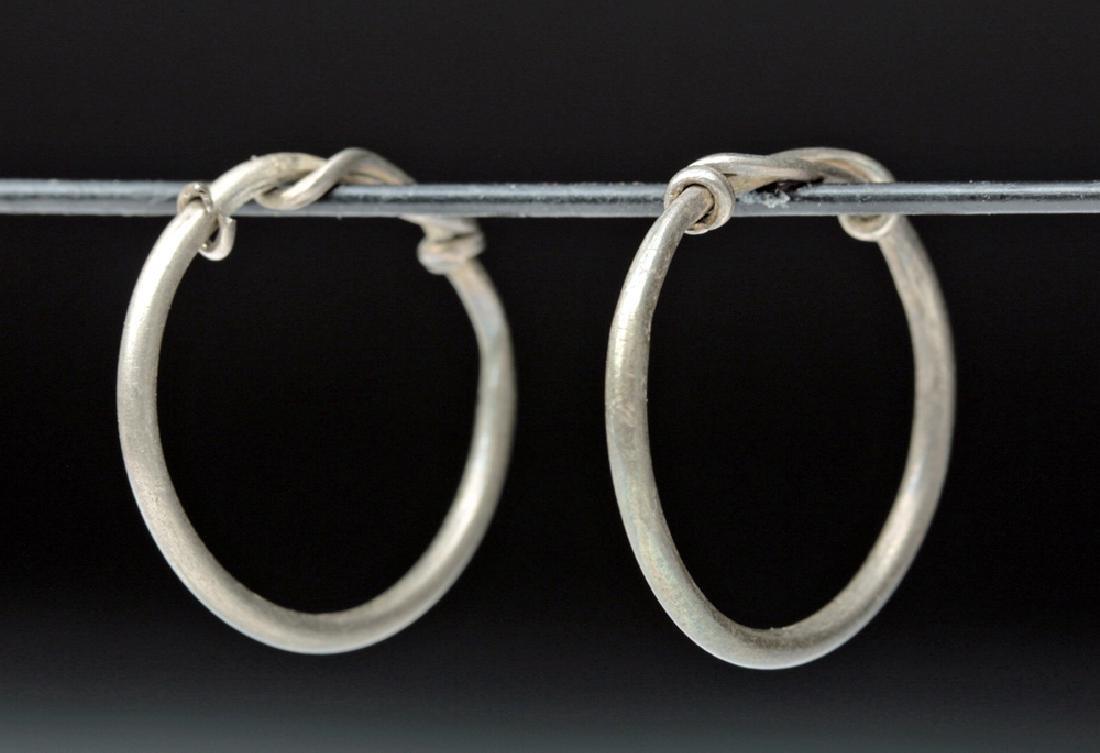 Viking Silver Temple Rings / Hoops (pr)