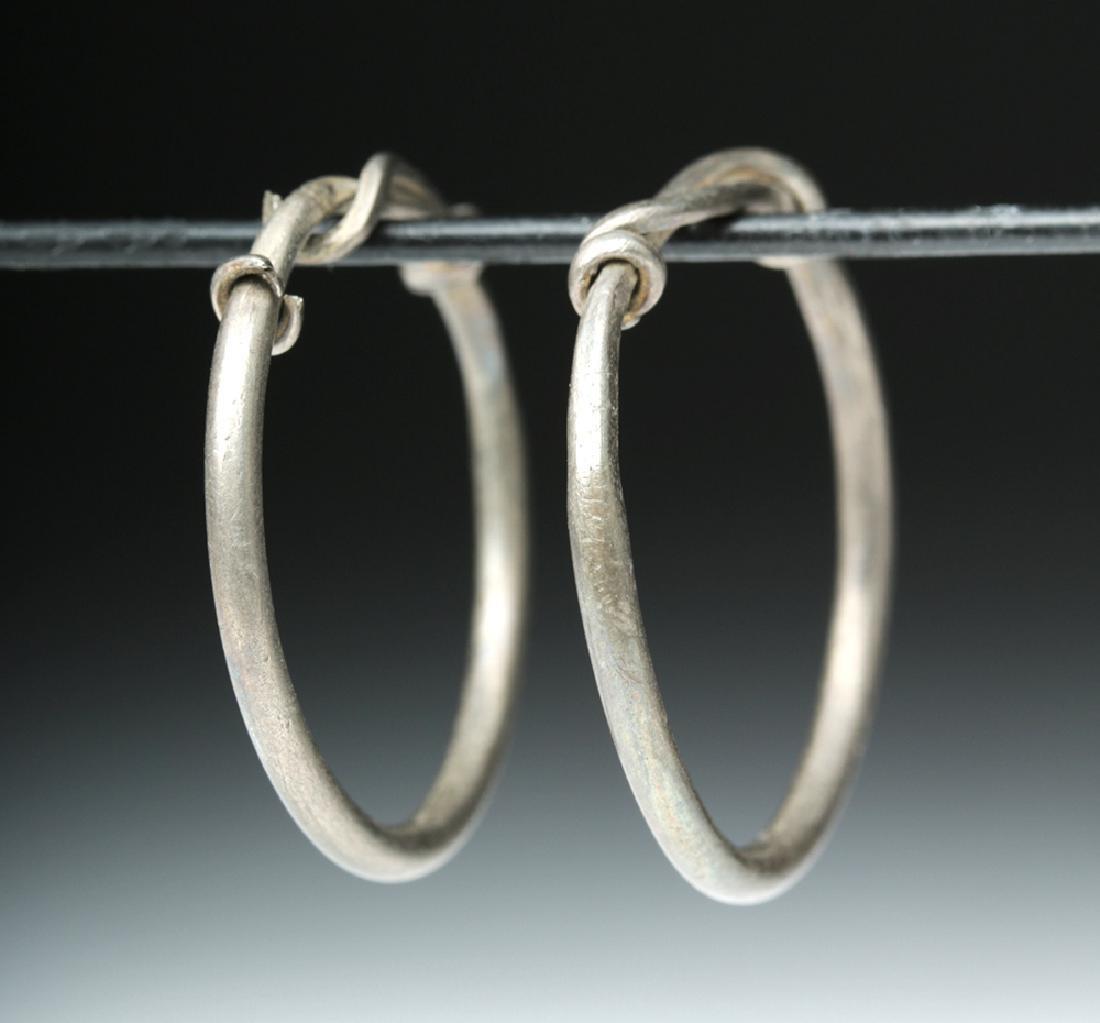 Viking Silver Temple Rings / Hoops (pr) - 2