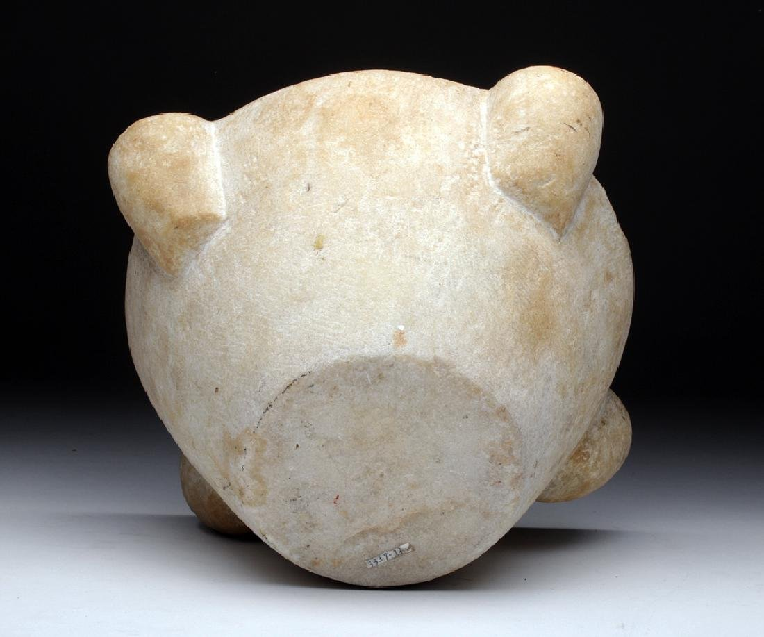 14th C. Medieval French Marble Mortar - 6