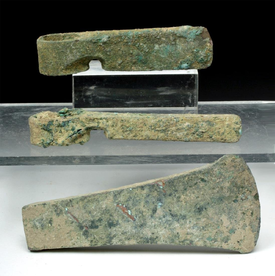 Trio of Cannanite Bronze Axe Heads