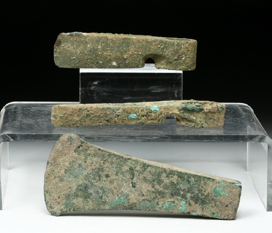 Trio of Cannanite Bronze Axe Heads - 2