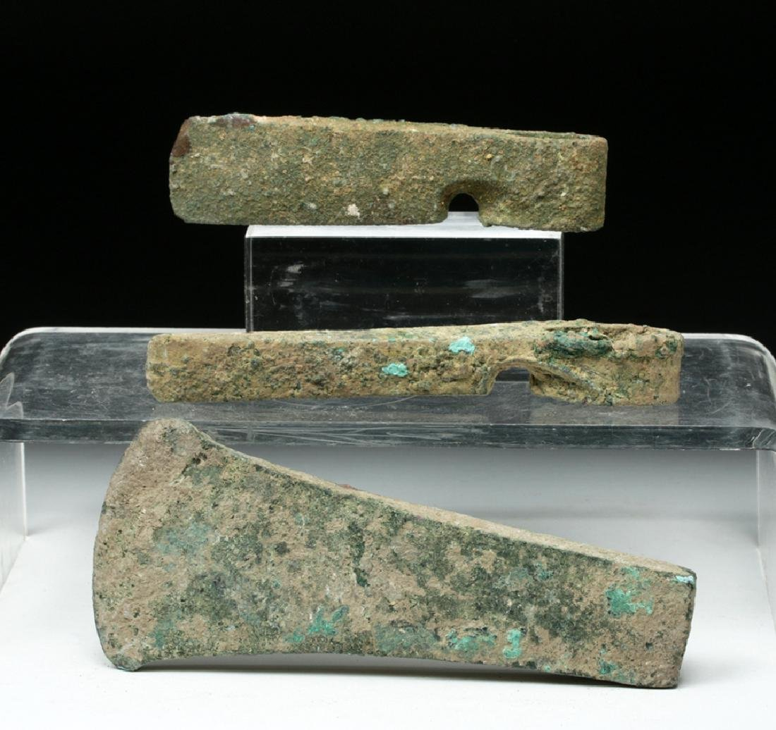 Trio of Cannanite Bronze Axe Heads - 3