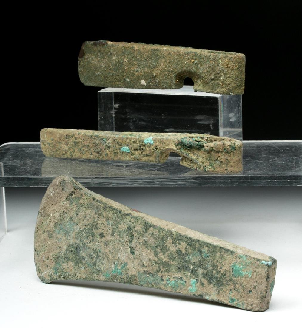 Trio of Cannanite Bronze Axe Heads - 4