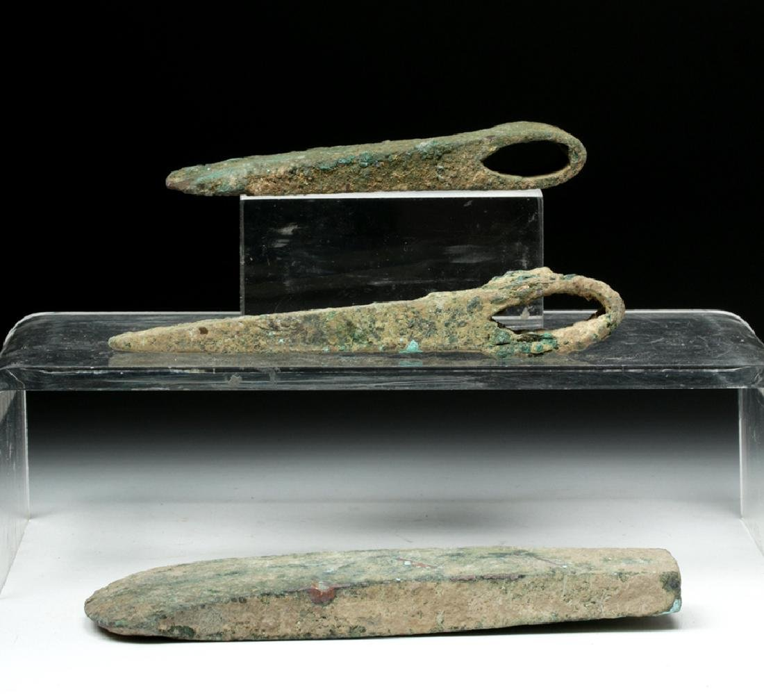 Trio of Cannanite Bronze Axe Heads - 5