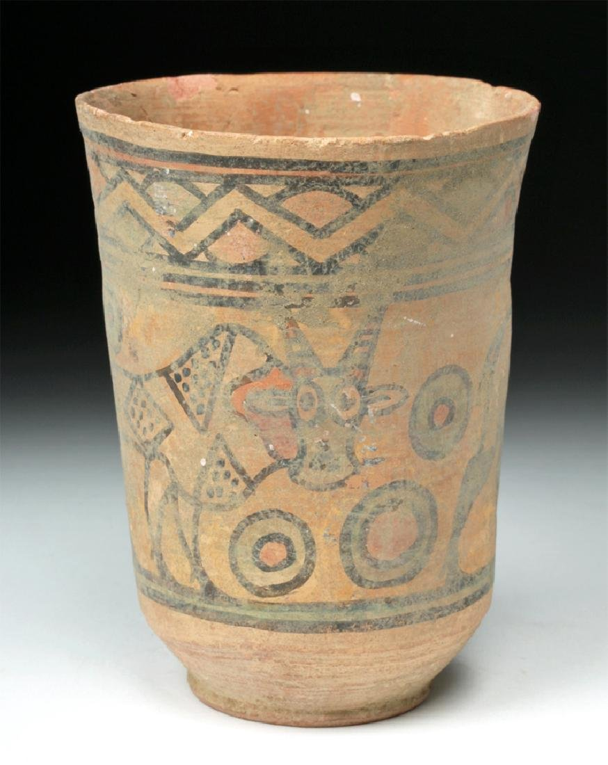 Indus Valley Terracotta Cup - Ibex and Bull