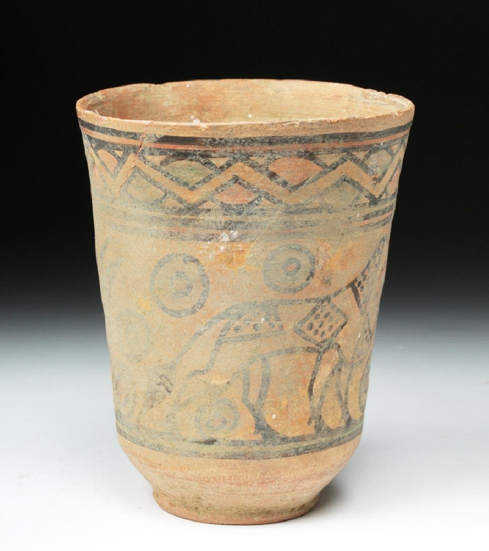 Indus Valley Terracotta Cup - Ibex and Bull - 2