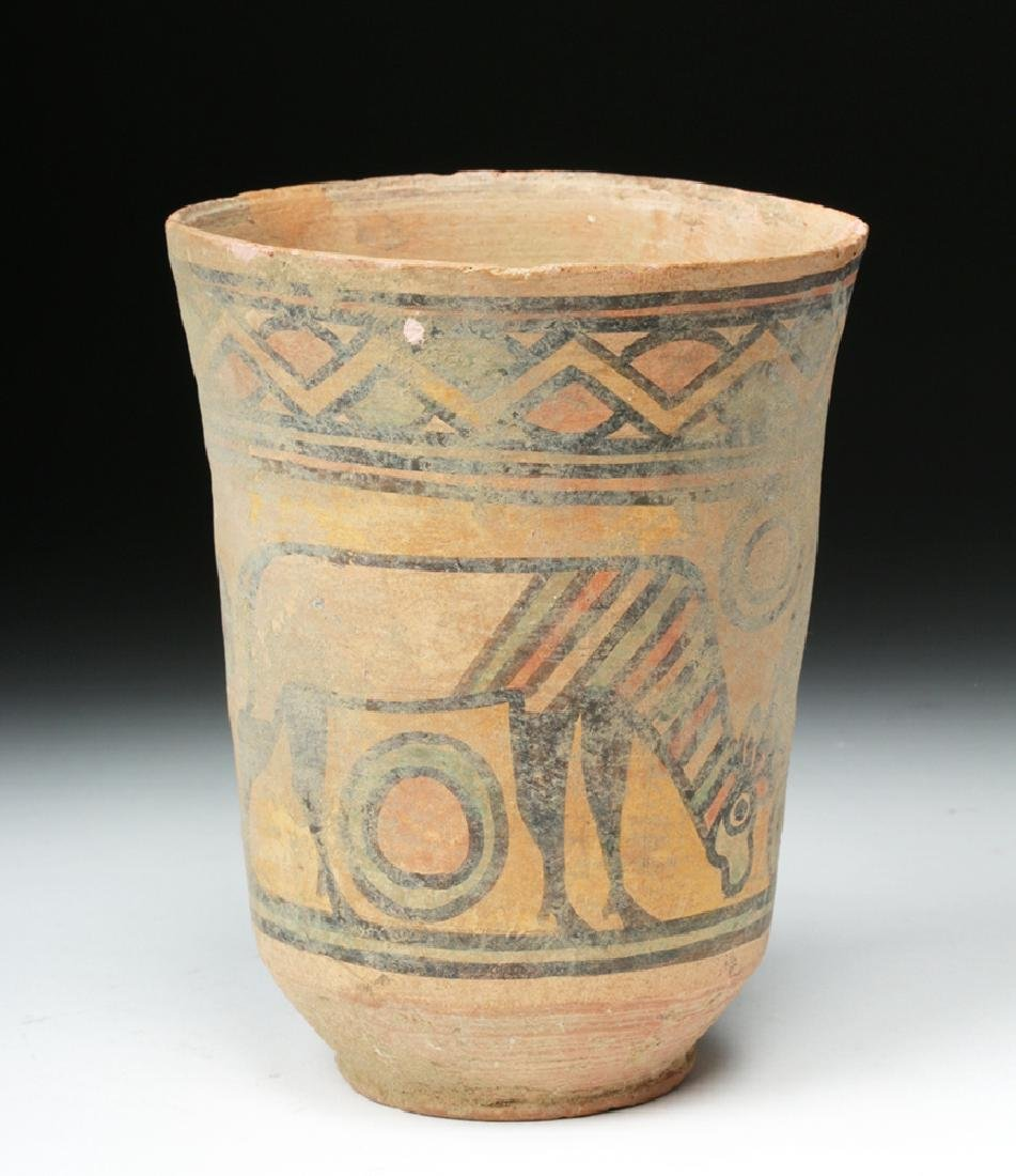 Indus Valley Terracotta Cup - Ibex and Bull - 4