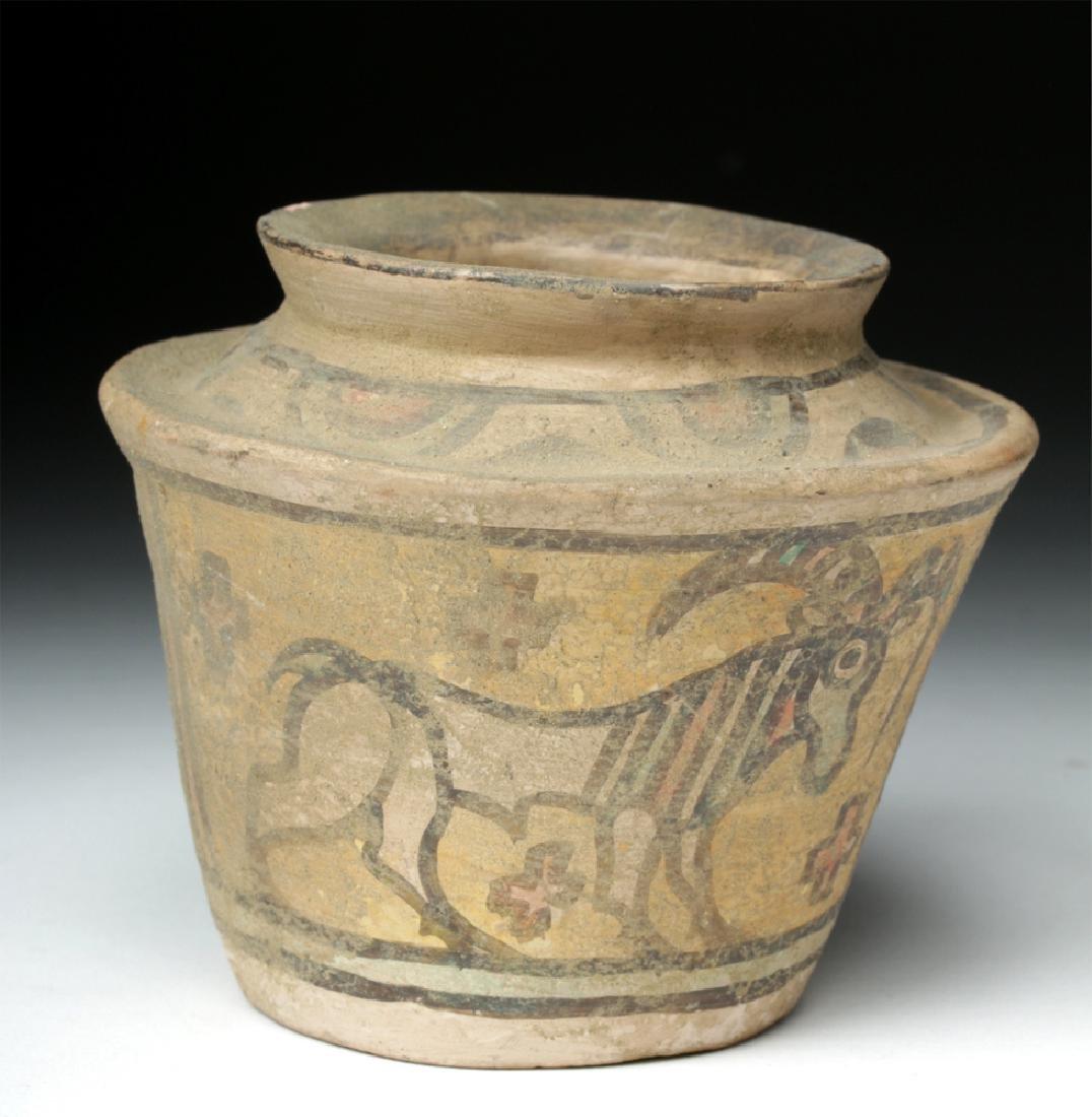 Indus Valley Pottery Polychrome Vessel