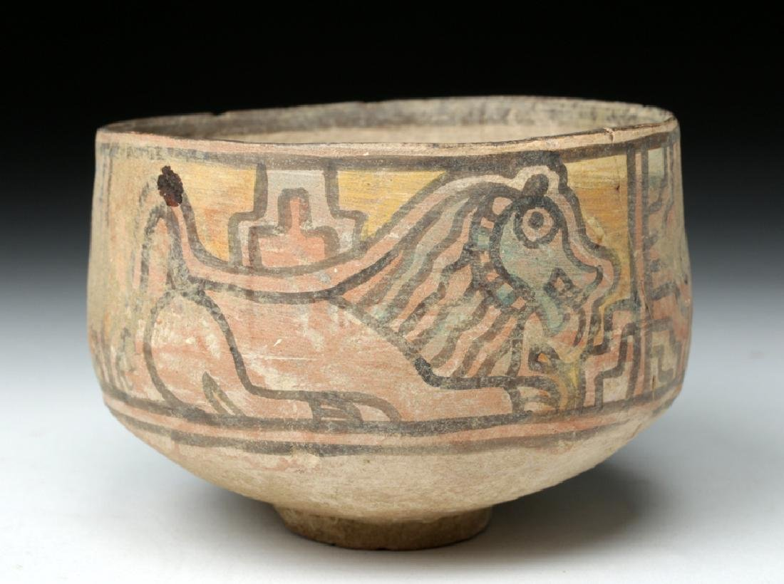 Indus Valley Pottery Bowl w/ Lion & Ibex