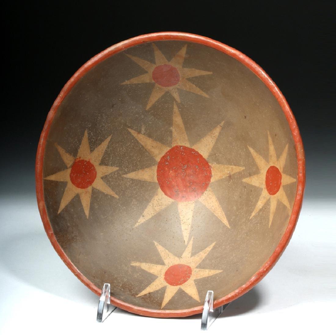 Narino Polychrome Bowl - 8 Pointed Stars Motif