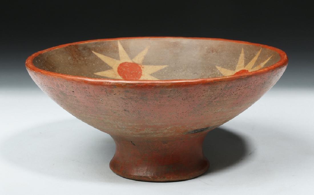 Narino Polychrome Bowl - 8 Pointed Stars Motif - 3