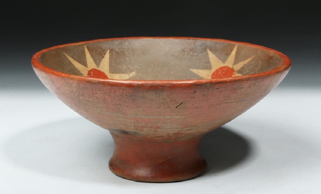 Narino Polychrome Bowl - 8 Pointed Stars Motif - 6