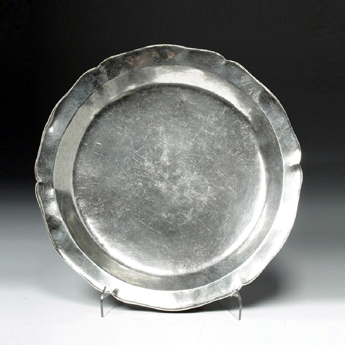 Late 18th C. Spanish Colonial Silver Charger